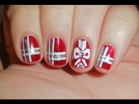 Christmas Present Nail Art Youtube