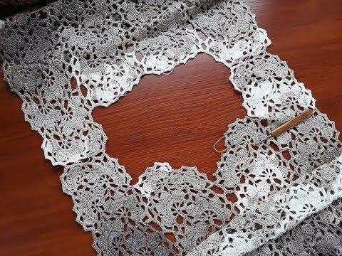 Платье (сарафан) крючком. Ленточное кружево. Часть 6. Перевяз горловины. Соединение по плечам.