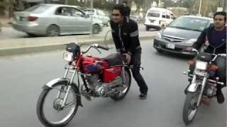 Wheeler Of Sargodha Babar Malik Stants Uni Road2012