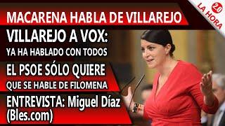 VILLAREJO HABLA CON VOX!! MACARENA LO CUENTA. Entrevista con Miguel Díaz