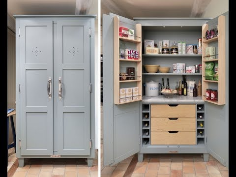 Kitchen Pantry Cabinet Freestanding - YouTube