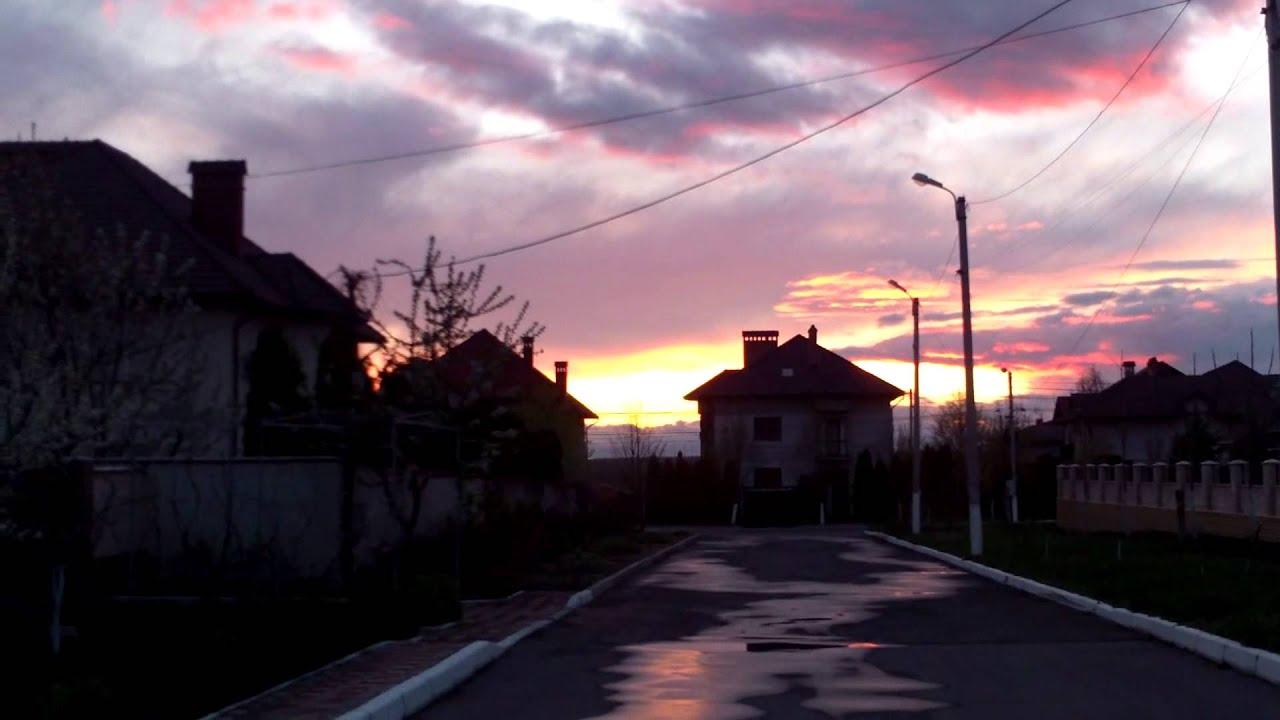 Apus de soare spectaculos la Rîșcanii Chișinăului