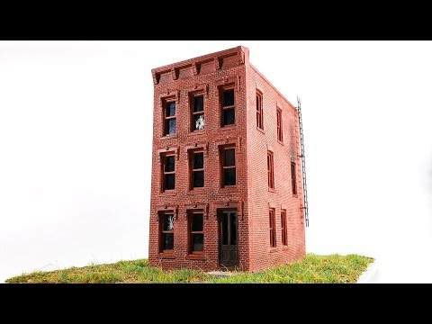 How To Build Realistic Abandoned Building HO Scale Miniature Diorama | StoltzKraft