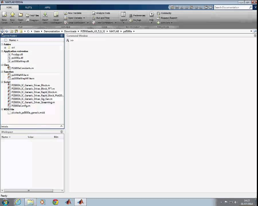 PicoScope - how to get started using the MATLAB instrument drivers