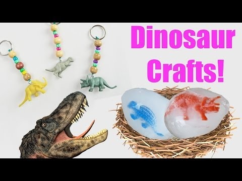 Dinosaur Toy Crafts | Kids Cooking and Crafts | Dinosaurs in my Toy Box  🐉