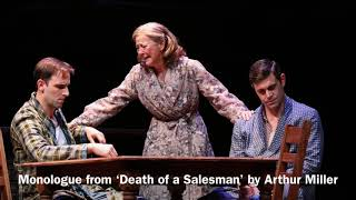 Andrew recites: Monologue from 'Death of a Salesman' by Arthur Miller