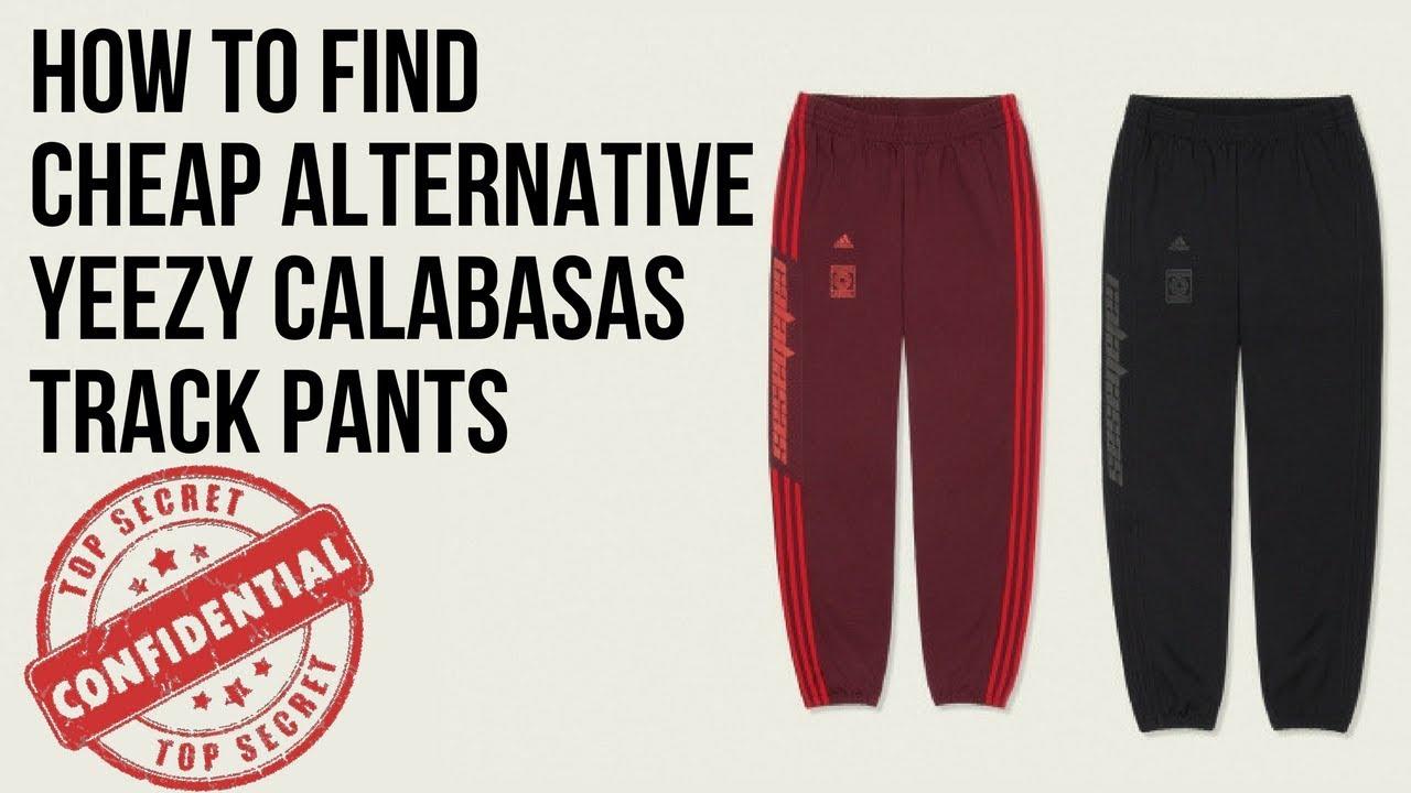 21c9f05748940 Cheap Alternative Yeezy Calabasas Track Pants - YouTube