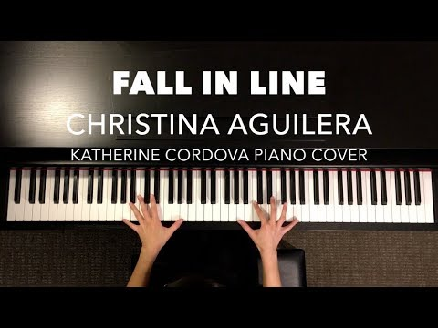 Christina Aguilera - Fall In Line ft. Demi Lovato (HQ piano cover)