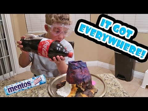 Thumbnail: MENTOS AND COKE VOLCANO EXPERIMENT!