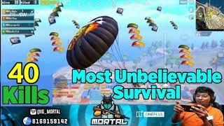 Mortal's Unbelievable Survival Story | Impossible Survival Made Possible By MortaL | Crazy 40 Kills