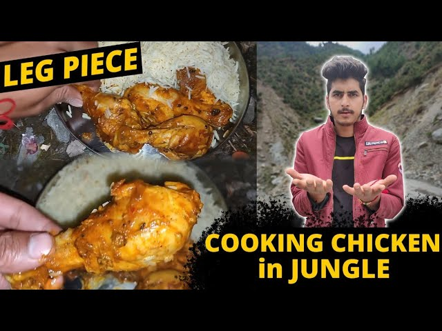 Cooking KFC !! Chicken Leg Piece And Eating in My Village Jungle | Himachal Wala