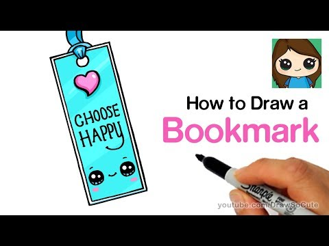 How to Draw a Bookmark Easy  | Cute Back to School Supplies