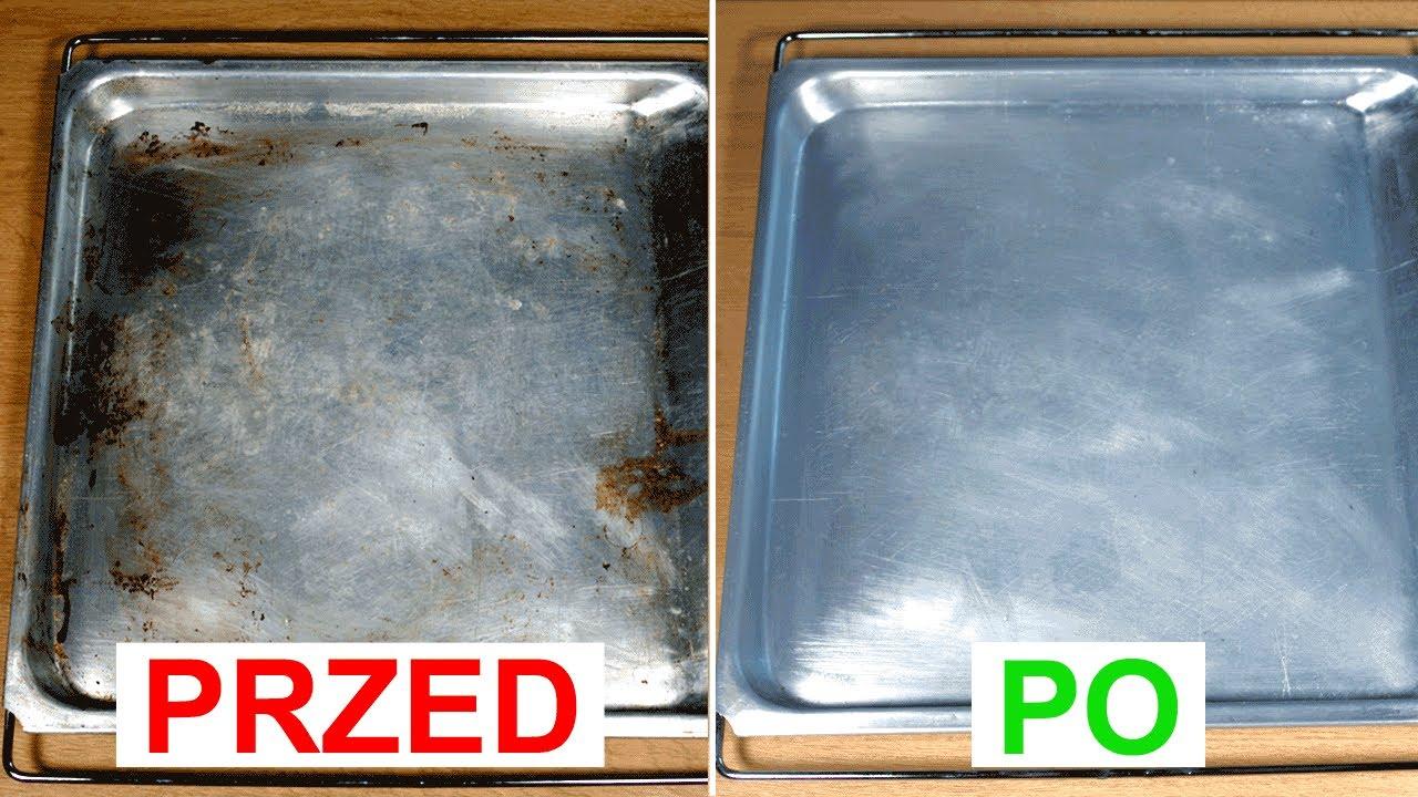 Jak szybko wyczyścić przypaloną tłuszczem blachę z piekarnika | Porównanie skuteczności 2 sposobów