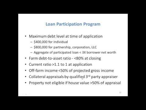 Landowner Webinar - Access to Capital and Tax Incentives for Beginning Farmers and Landlords