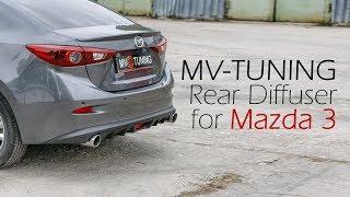 Диффузор компании MV-TUNING для Mazda 3 / MV-Tuning Diffuser for Mazda 3 / Axela (3rd gen)
