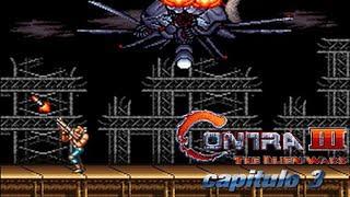 Contra 3 The Alien Wars capitulo 3 los robots gigantes