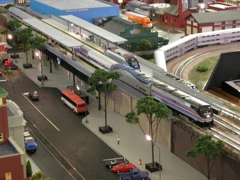 HO Scale Elevated Amtrak Station Renovation HD