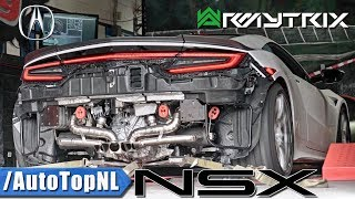 2018 Acura NSX LOUD Twin-Turbo V6 Sound w/ ARMYTRIX Titanium Exhaust – Accelerations On Dyno!