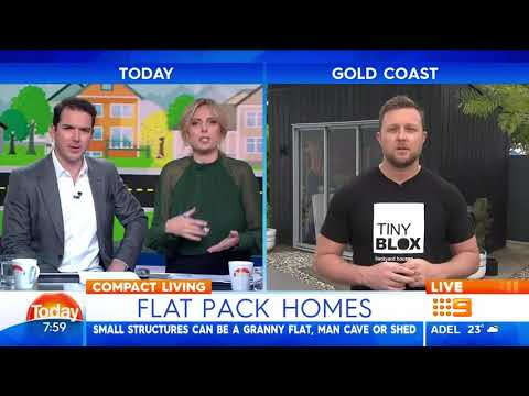 TINY BLOX on TODAY SHOW about Flat Pack Homes
