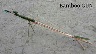 Home make Bamboo gun using Bamboo and Wooden