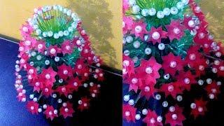 Empty Plastic Bottle Vase Making Craft - Water Bottle Recycle Flower Vase Art - Carrybag flower vase