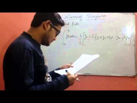 Trapezoidal rule numerical integration in Numerical Analysis By Sarvesh Gupta
