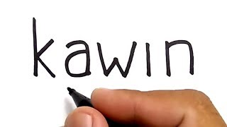 WOW, cara menggambar ORANG KAWIN dengan kata kawin, KEREN