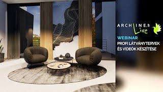 ARCHLine.XP LIVE 2021: Profi látványtervek és videók készítése 2. rész