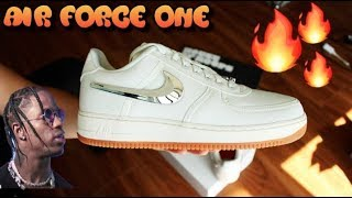 2018 Nike Air Force 1 Travis Scott Sail Sneakers | Detailed Review ASTROWORLD