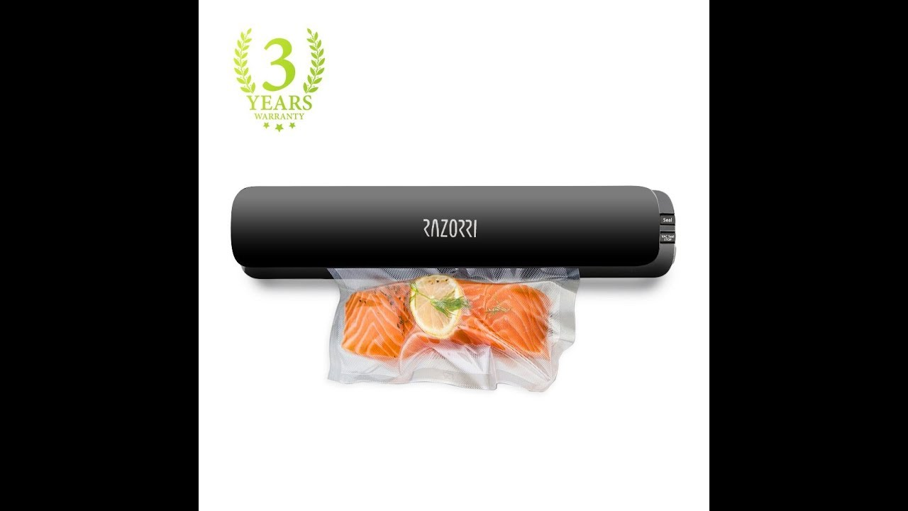 appareil de mise sous vide razorri e1800 c vacuum sealer youtube. Black Bedroom Furniture Sets. Home Design Ideas