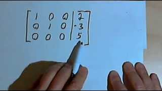 Augmented Matrices with 0, 1 or Infinite Solutions 141-44