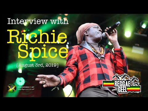 Interview with Richie Spice [08/03/2019] Reggae Geel mp3