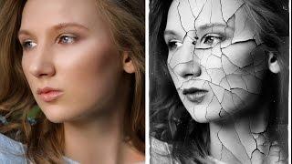 Эффект фарфоровой кожи с трещинами в Photoshop - Стив Ласмин