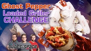 Taco Bell Ghost Pepper Loaded Griller Challenge *VOMIT WARNING* - Dudes N Space