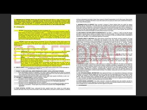 SCR Buyer Agency Agreement Update Effective 1/1/2020 (SCR130)