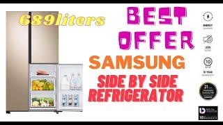 Samsung 689 liters Triple Door Side by Side Refrigerator Space max Digital Inverter Technology