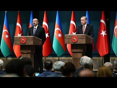 Erdoğan ile Aliyev ortak basın toplantısı düzenliyor