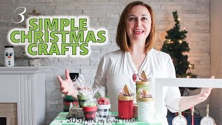 Three Simple Christmas Crafts to Make! The DIY Mommy's 2018 DIY Decor Challenge