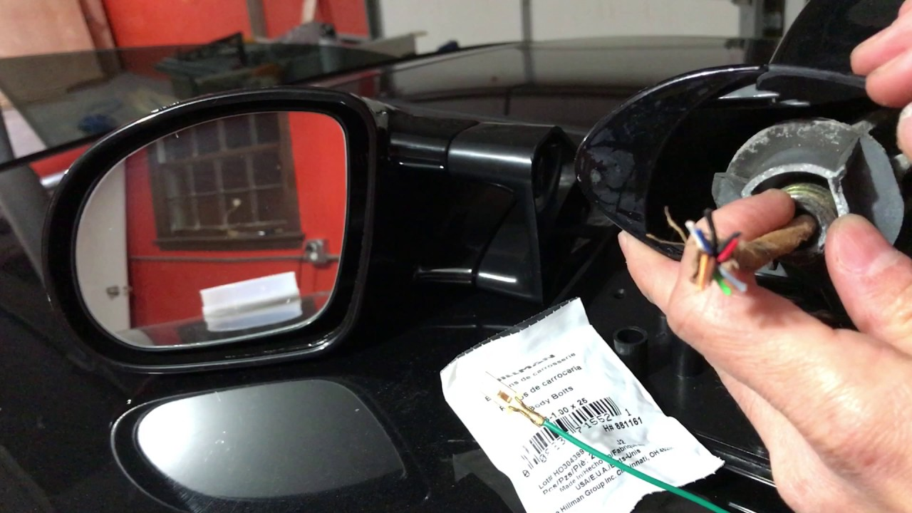 Wiring color binations and issues with aftermarket M3 style side mirror for BMW E46 2001