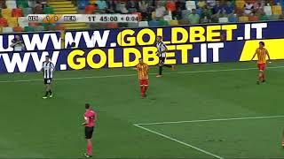 sintesi Udinese - Benevento 1 - 2 coppa italia