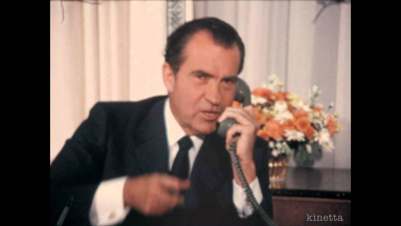 Richard Nixon and Astronauts on the Moon (home movie ...