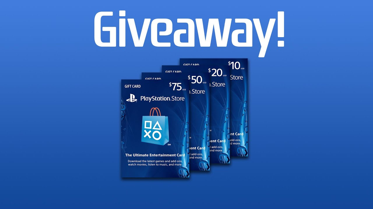 CLOSED) PlayStation Gift Card Giveaway! ($10) - YouTube