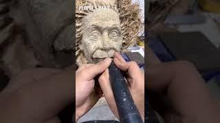 China's got talents! Man creates Albert Einstein sculpture on tree root