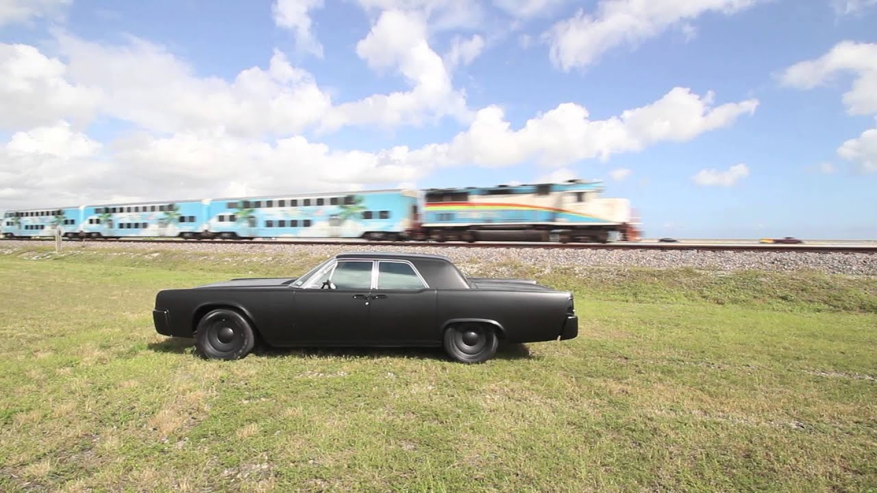 1963 Lincoln Continental Murdered out in HD - YouTube