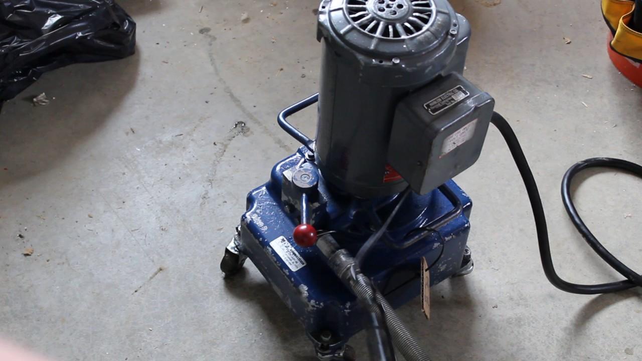 Greenlee 960 Electric Hydraulic Pump Good Condition -9774