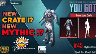 Today is Lucky! 🔥Grave Lord Opening | New Supply Crate Opening  PUBG Mobile KR