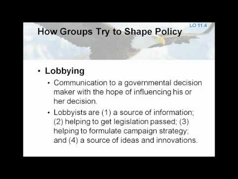 7.1  AP Textbook Lecture- Interest Groups (Chp. 11)