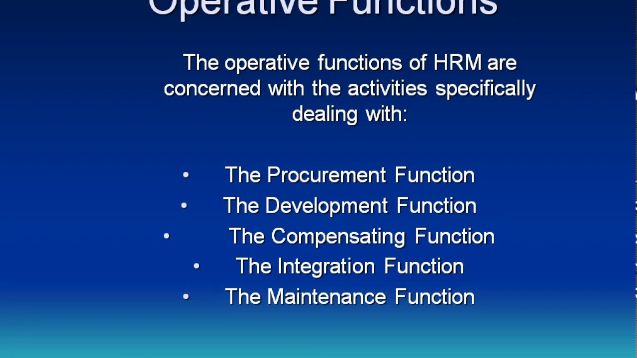 functions of operation department Operations manager job description an operations manager is a senior role which involves overseeing the production of goods and/or provision of services.