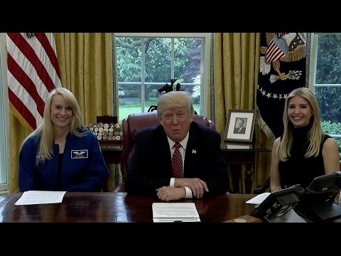 President Trump Calls Space Station Crew on Record-Setting Day