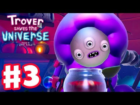 Trover Saves the Universe - Gameplay Walkthrough Part 3 - Voodoo Person and Flesh World!